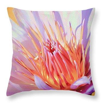 Aquatic Bloom Throw Pillow by Julie Palencia