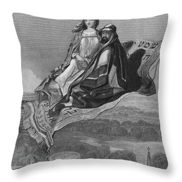 Arabian Nights: Carpet Throw Pillow by Granger