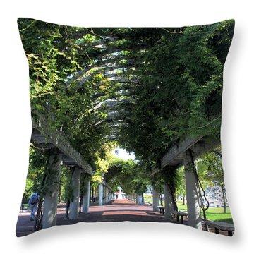 Arbor In Boston Throw Pillow by Kristin Elmquist