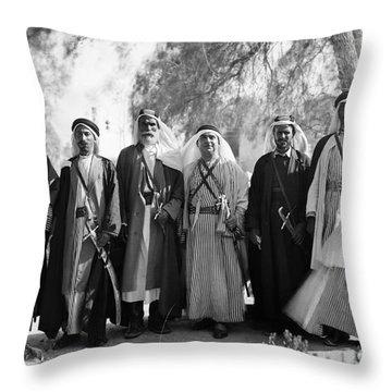 Aref Al-aref (1892-1973) Throw Pillow by Granger
