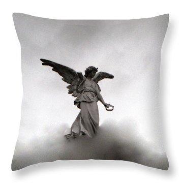 Armless Angel Throw Pillow by Doug  Duffey