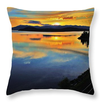 Around The Bend Throw Pillow by Benjamin Yeager