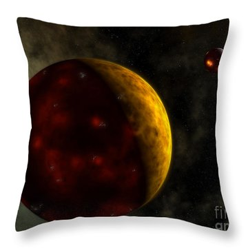 Artists Concept Of A Young, Turbulent Throw Pillow by Walter Myers