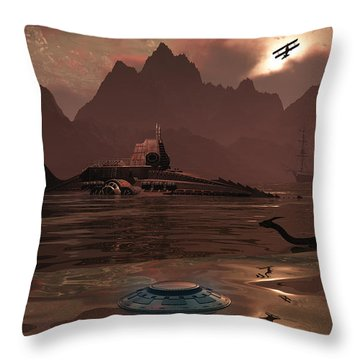 Artists Concept Of An Ancient Throw Pillow by Mark Stevenson