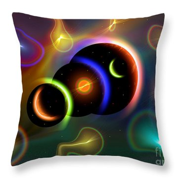 Artists Concept Of Cosmic Portals Throw Pillow by Mark Stevenson