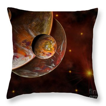 Artists Concept Of The Birth Place Throw Pillow by Mark Stevenson