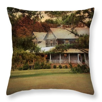 As Evening Falls Throw Pillow by Jai Johnson