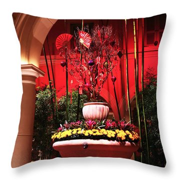 Asian Decor Throw Pillow by John Rizzuto