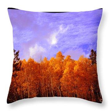Aspen Ridge In Western Light Throw Pillow by Susanne Still