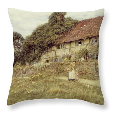 At Stedham Near Midhurst Throw Pillow by Helen Allingham