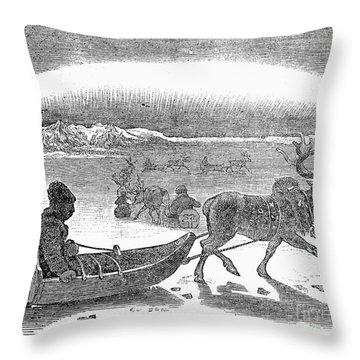 Aurora Borealis, 1833 Throw Pillow by Granger