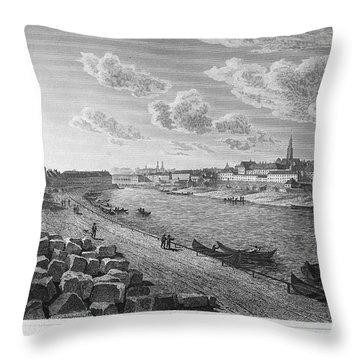 Austria: Vienna, 1821 Throw Pillow by Granger