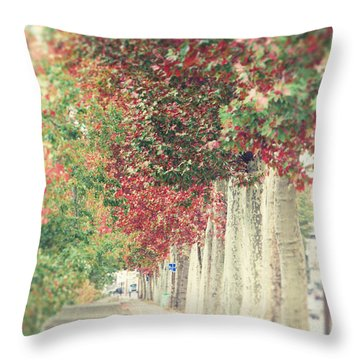 Autumn And Fall Throw Pillow by Ivy Ho