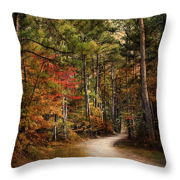 Autumn Forest 2 Throw Pillow by Jai Johnson
