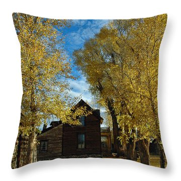 Autumn In Montana's Nevada City Throw Pillow by Bruce Gourley