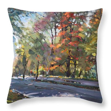 Autumn In Niagara Falls Park Throw Pillow by Ylli Haruni