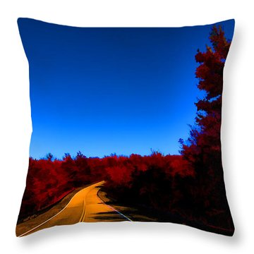 Autumn Red Throw Pillow by Douglas Barnard