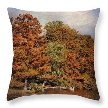 Autumn's Edge Throw Pillow by Jai Johnson
