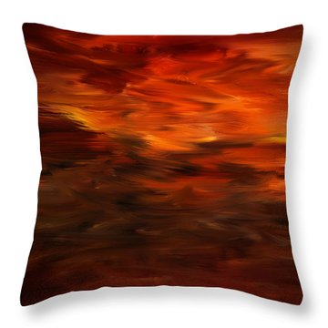 Autumn's Grace Throw Pillow by Lourry Legarde