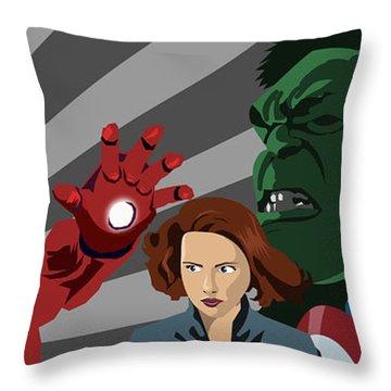 Avengers Assemble Throw Pillow by Lisa Leeman