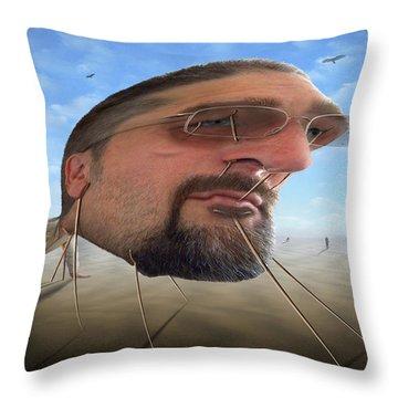 Awake . . A Sad Existence 2 Throw Pillow by Mike McGlothlen