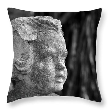 Baby Face Throw Pillow by David Lee Thompson