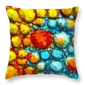 Bacteria 1 Throw Pillow by Angelina Vick