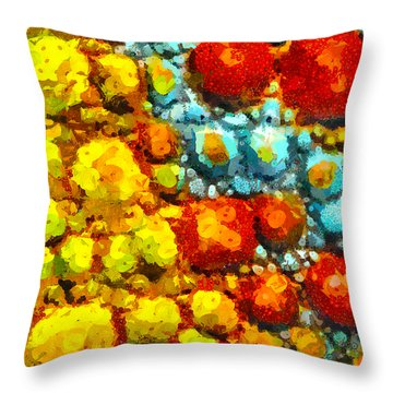 Bacteria 2 Throw Pillow by Angelina Vick