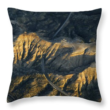 Bad Lands Granada Spain Throw Pillow by Guido Montanes Castillo