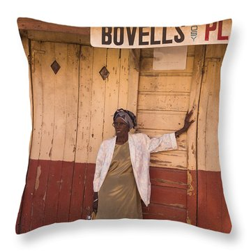 Bajan Lady Of Barbados Throw Pillow by Rene Triay Photography