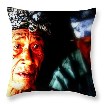 Balinese Old Man Throw Pillow by Funkpix Photo Hunter