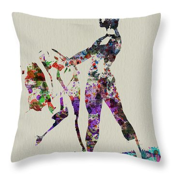 Ballet Dance Throw Pillow by Naxart Studio