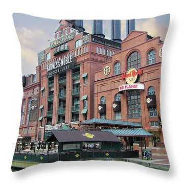 Baltimore Power Plant Throw Pillow by Brian Wallace