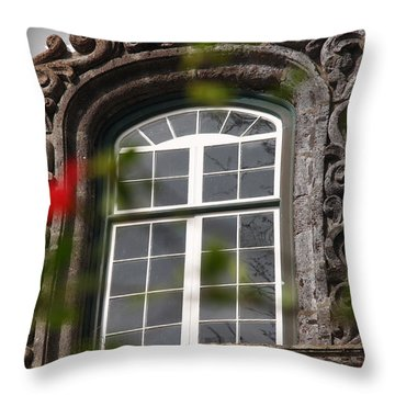 Baroque Style Window Throw Pillow by Gaspar Avila