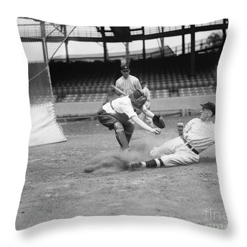 Baseball Game, C1915 Throw Pillow by Granger
