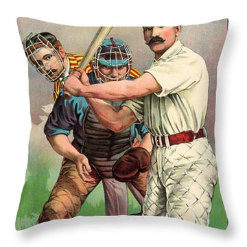Baseball Player, C1895 Throw Pillow by Granger