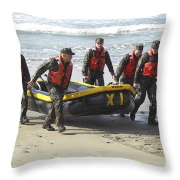 Basic Underwater Demolitionseal Throw Pillow by Stocktrek Images