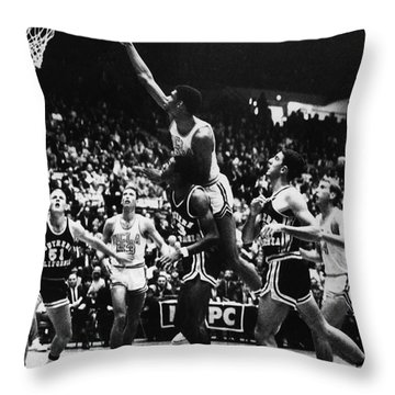 Basketball Game, 1966 Throw Pillow by Granger