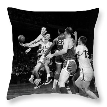 Basketball Game, C1960 Throw Pillow by Granger