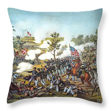 Battle Of Atlanta, 1864 Throw Pillow by Granger