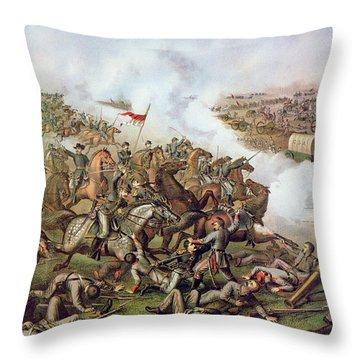 Battle Of Five Forks Virginia 1st April 1865 Throw Pillow by American School