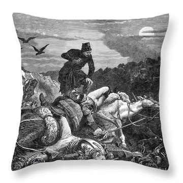 Battle Of Waterloo, 1815 Throw Pillow by Photo Researchers