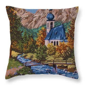 Bavarian Country Throw Pillow by M and L Creations Craft Boutique