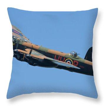 Bbmf Lancaster Bomber 2 Throw Pillow by Ken Brannen