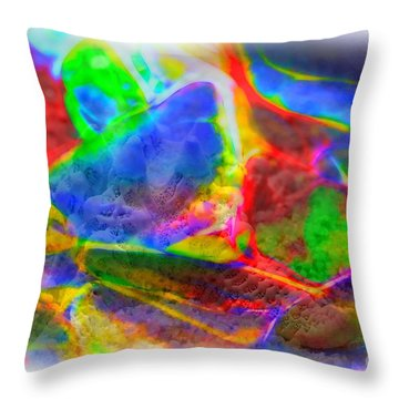 Beach Glass Abstract Throw Pillow by Judi Bagwell