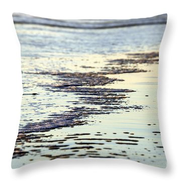 Beach Water Throw Pillow by Henrik Lehnerer