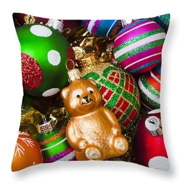 Bear Ornament Throw Pillow by Garry Gay