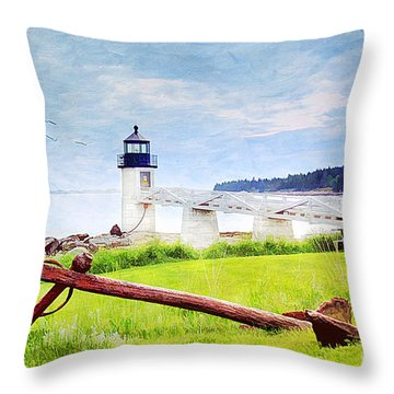 Beautiful Maine Throw Pillow by Darren Fisher