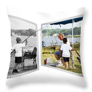 Becoming A Happier Day Throw Pillow by Brian Wallace