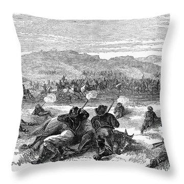 Beecher Island, 1868 Throw Pillow by Granger